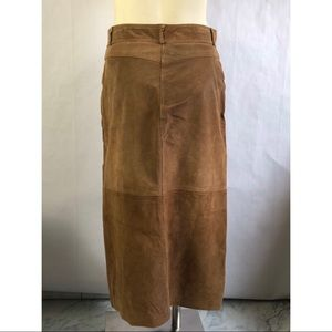D'Allairds Skirts - Vintage 100% Leather Suede Skirt